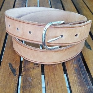 """Accessories - Name Plate Leather Belt    38"""" - 46"""""""